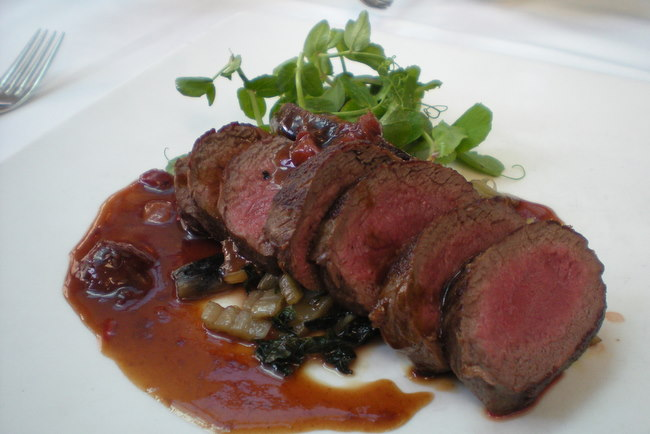 Venison fillet at Number 8